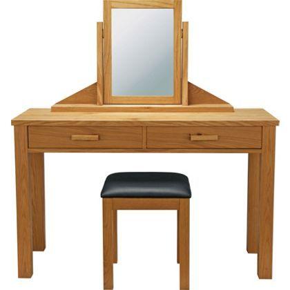 Schreiber Constable Dressing Table Mirror & Stool - Oak