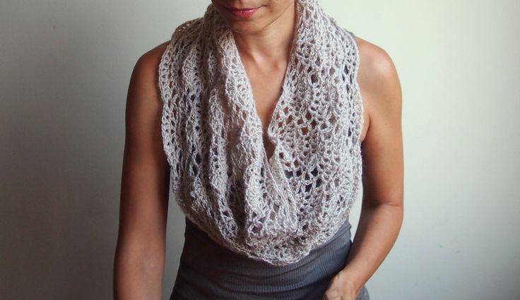 Infinity Scarf Crochet Pattern Woman Caplet Lace Shrug