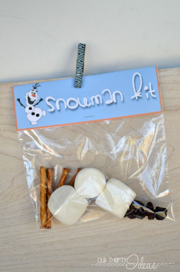 Frozen the movie treat bag toppers - free printable
