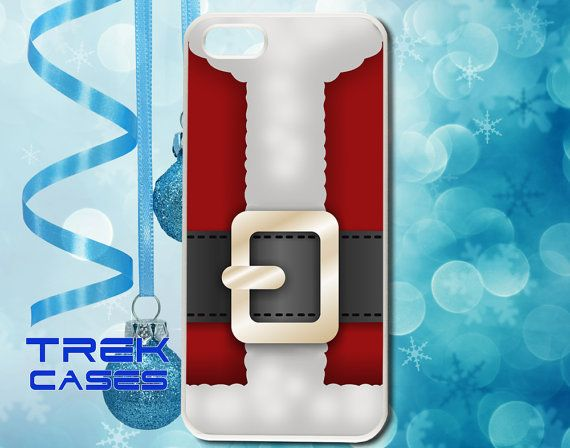 Classic Red Santa Claus Suit Phone Case Cover for the Apple iPhone 4 and iPhone 5 on Etsy, $6.99