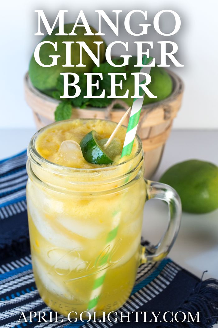 Mango Ginger Beer Non Alcoholic Drink Recipe
