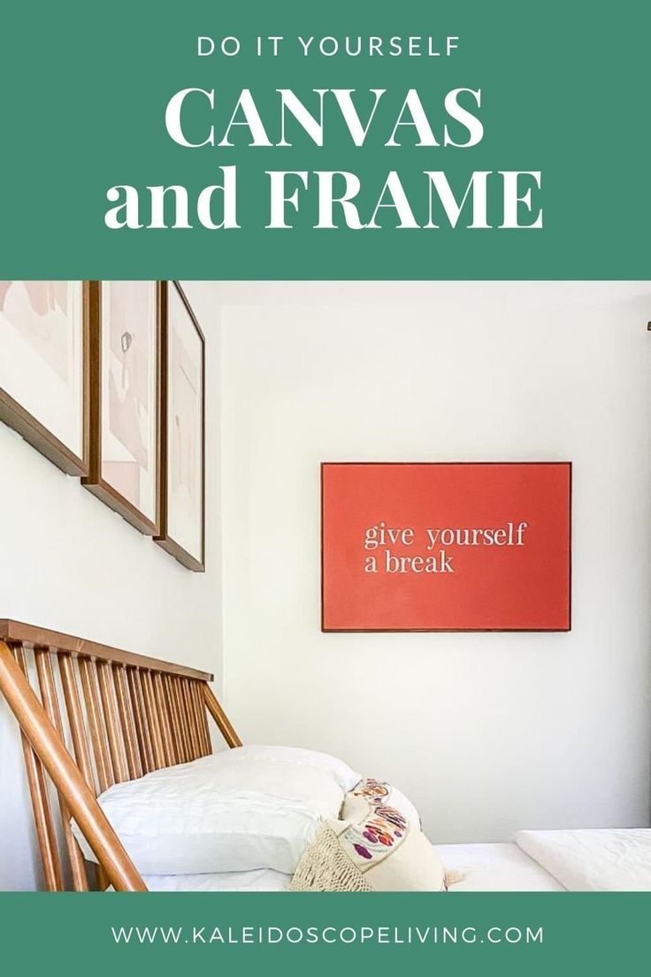 Diy canvas art with an easy frame kaleidoscope living in
