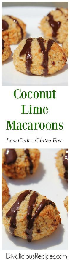 Coconut macaroons with the added flavour of lime since lime and coconut are a delicious flavour combination. A low carb and gluten free treat or snack.