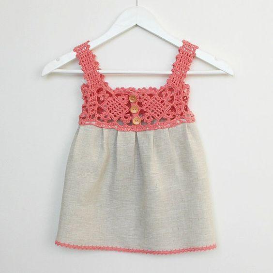 Kumaşla Örgü Kız Çocuk Elbise Modelleri ve Yapılışı 43