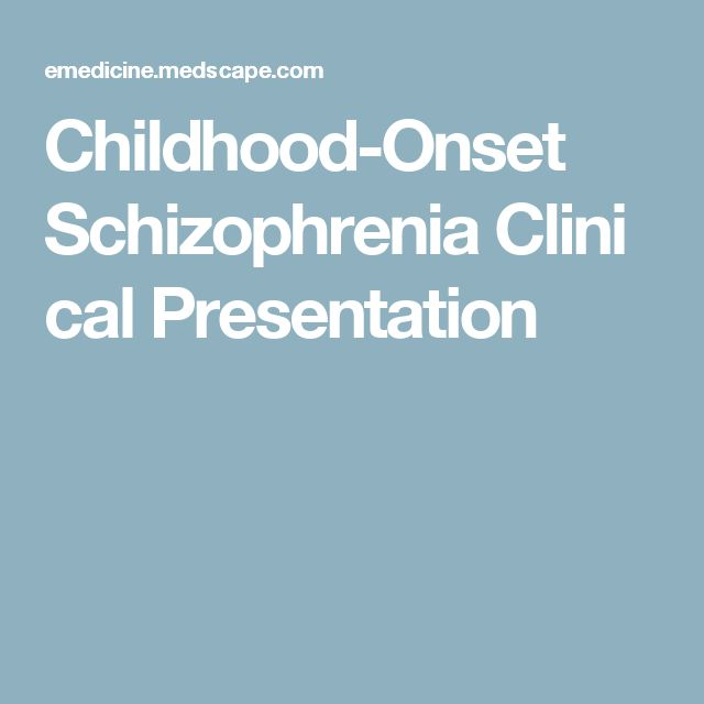 Schizophrenia in toddlers