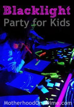 How To Have A Cool DIY Black light Party For Kids | Easy & Fun Creative Craft Projects For Kids By DIY Ready. http://diyready.com/15-fun-things-to-do-at-a-sleepover/