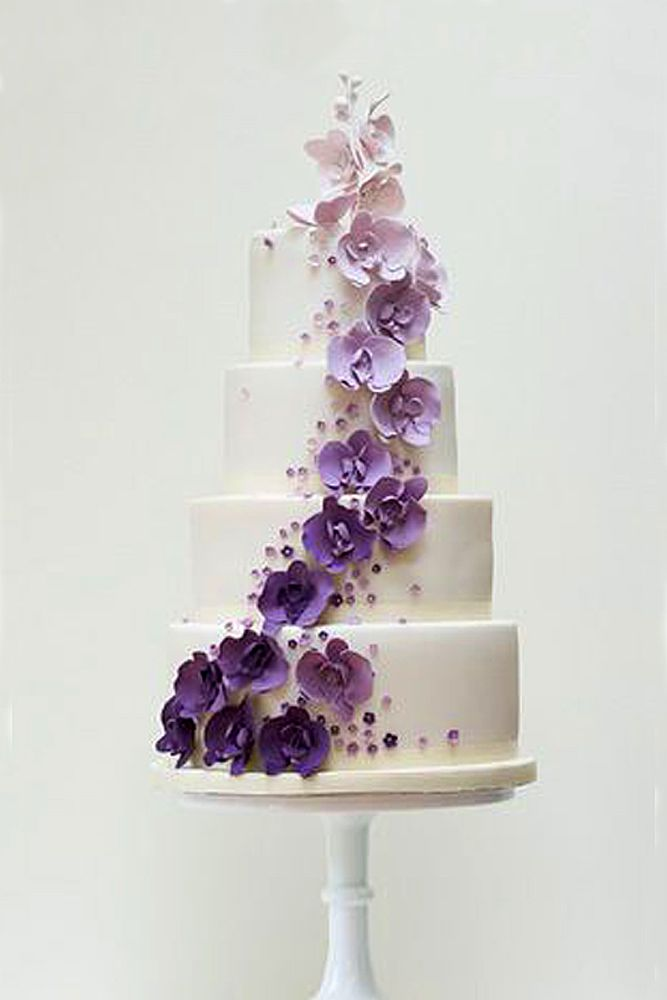 ombre effect wedding cakes 7