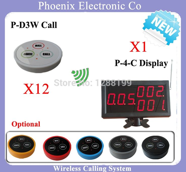 (215.00$)  Know more - http://ai5vc.worlditems.win/all/product.php?id=2033913781 - New Arrival Waiter Calling System Button Restaurant Call System 12 PCS Table Bells & 1 LED Display Receiver P-4-C