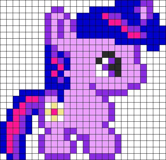 Baby Twilight Sparkle Perler Bead Pattern   Bead Sprites   Characters Fuse Bead Patterns