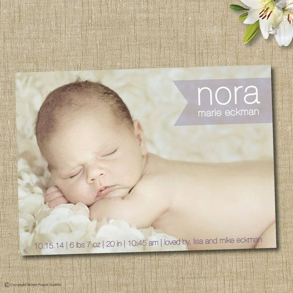 modern birth announcement. Sophisticated baby boy or girl modern birth announcement. on Etsy, $15.00