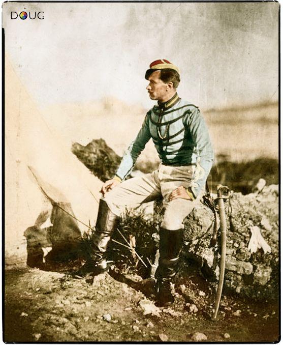Captain Thomas, Aide-de-camp to General Bosquet - c.1855 He wears a tunic of the Chasseurs d' Afrique