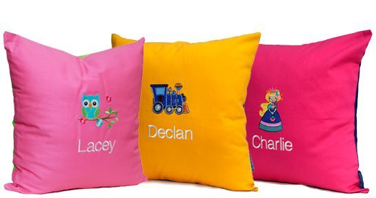Personalised Cushions - Embroidered Cushions - Baby Gifts : Personalised Gifts for Children : Personalised Christening Keepsakes - by #iddybiddyboo