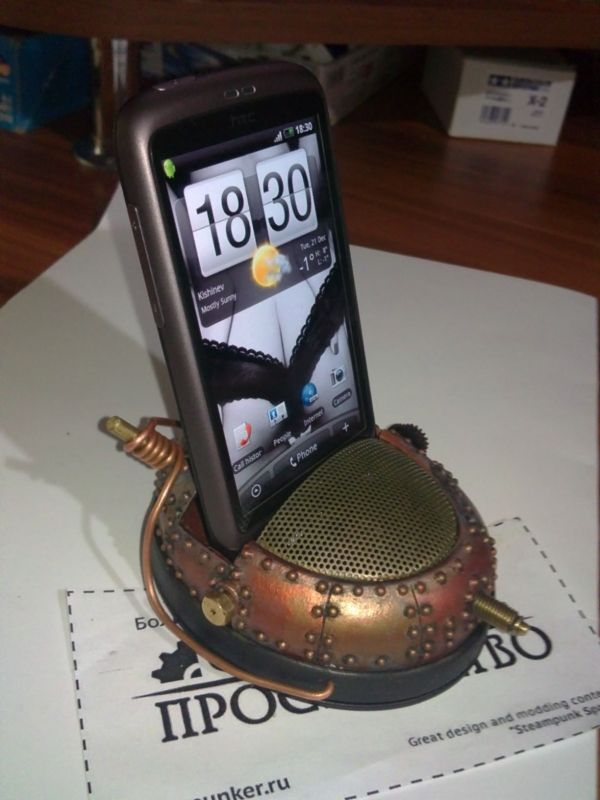 steampunk mobile phone charger -- Curated by ProWireless Ltd | 105-1110 Harvey Ave, Kelowna, BC V1Y 6E7 | 2504696700