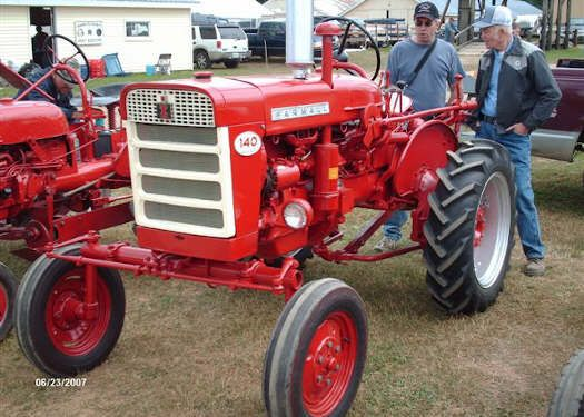 Farmall 140 Tractor : The farmall followed a radical grille change mimicked