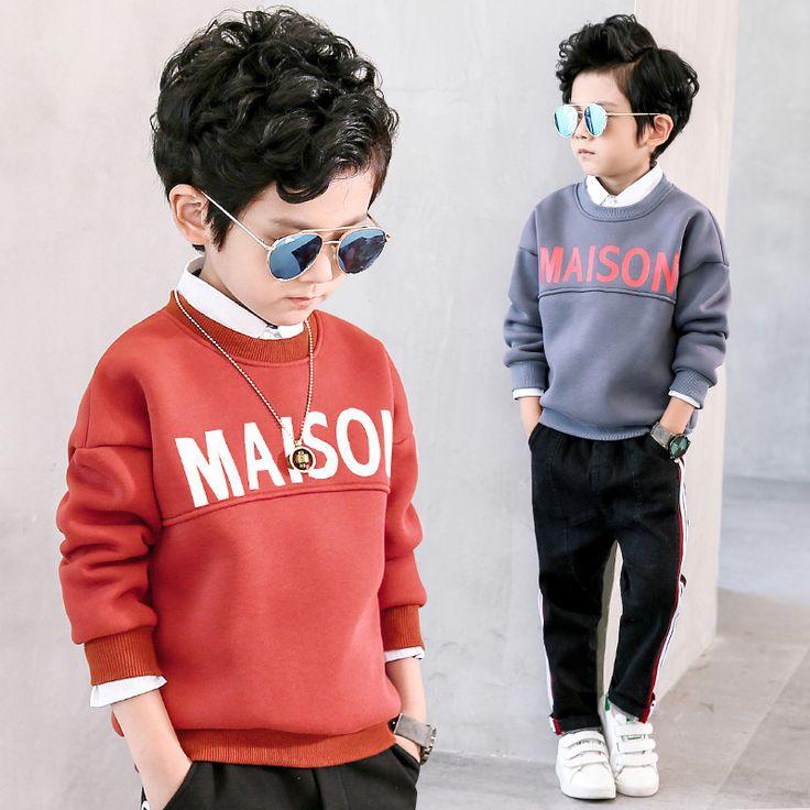 Boys Sweatshirts Long Sleeve Cartoon Letter Shirt for Boys Children T Shirts Cotton Boys Tops 2018 T Shirt Kids Kids Clothing //Price: $31.06 //     #baby