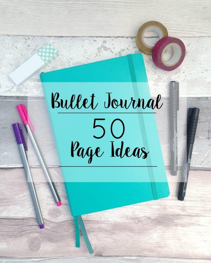 Bullet Journal   50 Page Ideas Journal journalling bullet planner organiser
