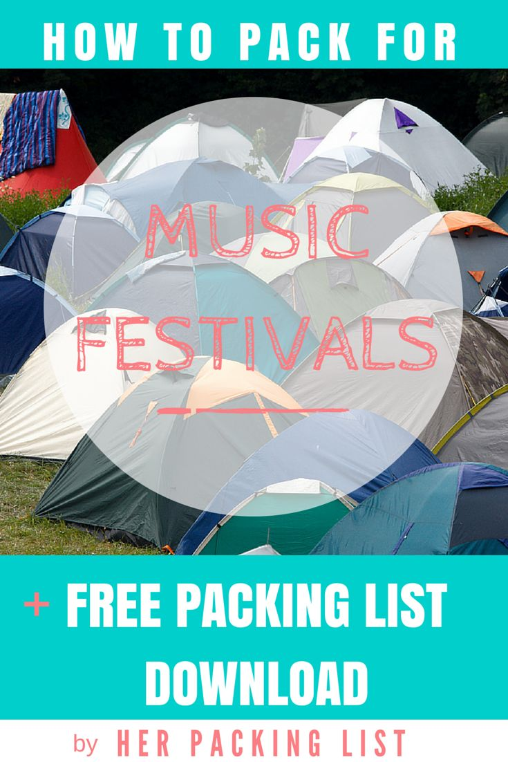 Multiple days, lack of showers, living out of a tent... music festivals are a blast but can be a nightmare to pack for! This downloadable packing list should help.