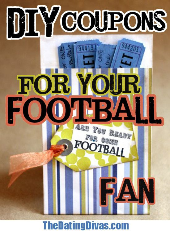Make your man's day with these fun #DIY coupons! It's sure to be a touchdown!  www.TheDatingDivas.com #football #forhim