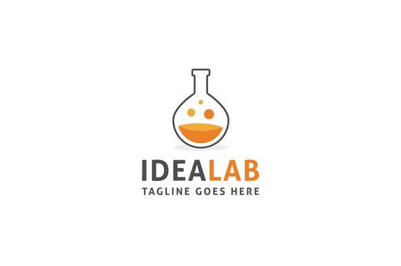 Idea Lab Logo Template by Rekisaurus on Creative Market