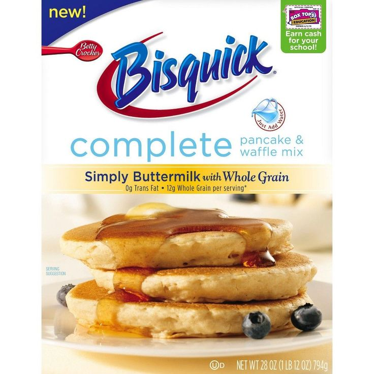 Betty Crocker Bisquick Complete Simply Buttermilk with Whole Grain Pancake & Waffle Mix 28 oz