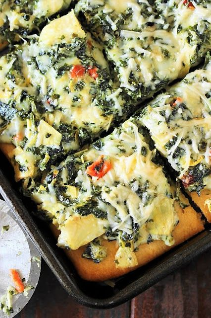 Spinach and Artichoke Dip Party Squares image