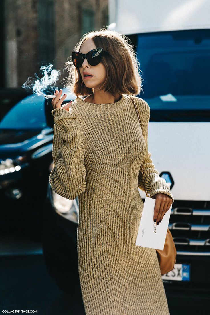 Street Style | Smokes Woman | Cat eye Sunglasses | @KatyaGuseinova