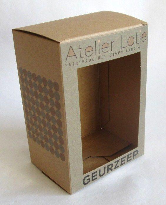 bedrukte doosje op maat met venster voor geurzeep