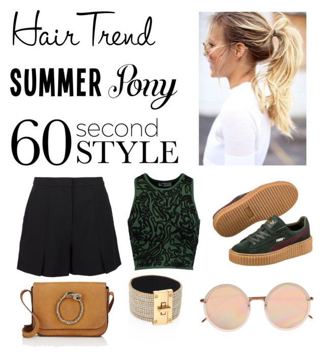 Untitled #154 by poorvashikalra on Polyvore featuring polyvore, beauty, Linda Farrow, ABS by Allen Schwartz, Yves Saint Laurent, Opening Ceremony, T By Alexander Wang, Puma, hairtrend, 60secondstyle and summerpony