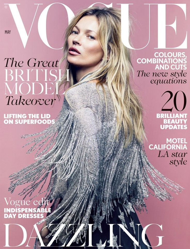 vogue uk kate moss may 2014 cover Kate Moss, Freja Beha Wear Kates Topshop Collection for Vogue UK