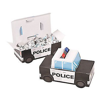 POLICE-PARTY-Police-Design-Treat-Boxes-Favour-Boxes-pack-of-6