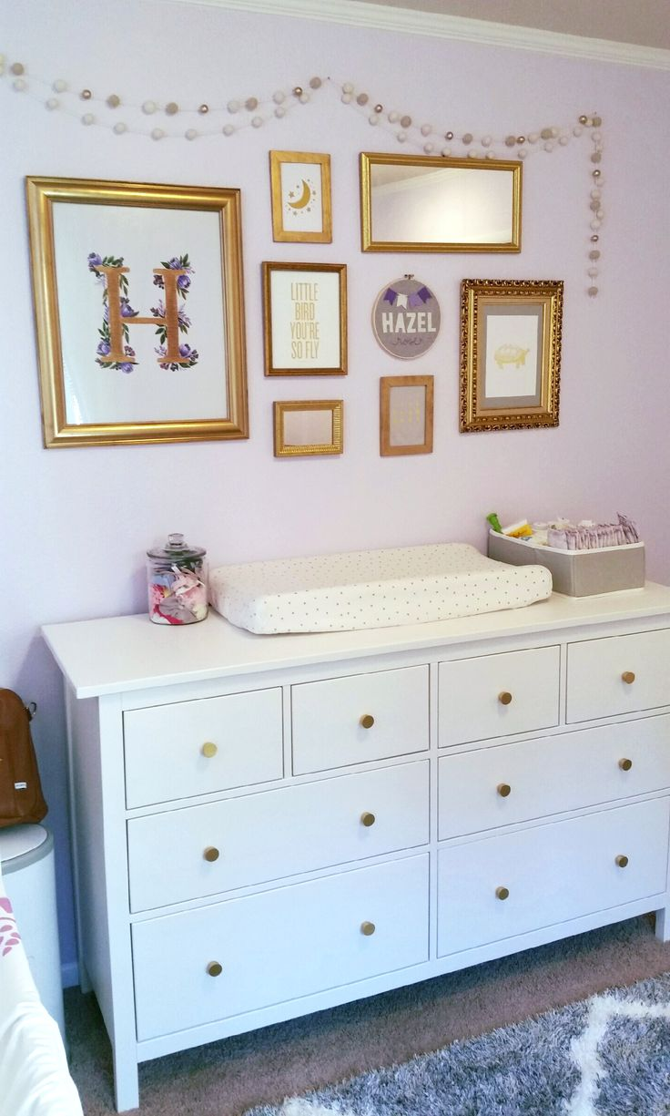 Lavender and Gold Nursery Perfection!