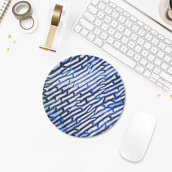 Cool Mousepad Round Mousepad Photomicrography Art Abstract