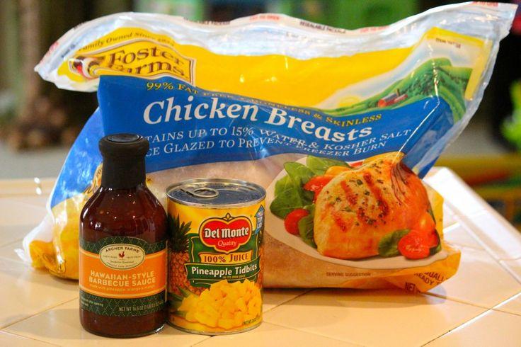 Hawaiian pineapple chicken: Chicken Dinners, Chicken Pizza Recipe, Hawaiian Chicken, Crockpot Hawaiian, Chicken Crock Pots Recipe, Crockpot Recipe, Hawaiian Pizza, Crockpot Chicken Hawaiian, Chicken Breast