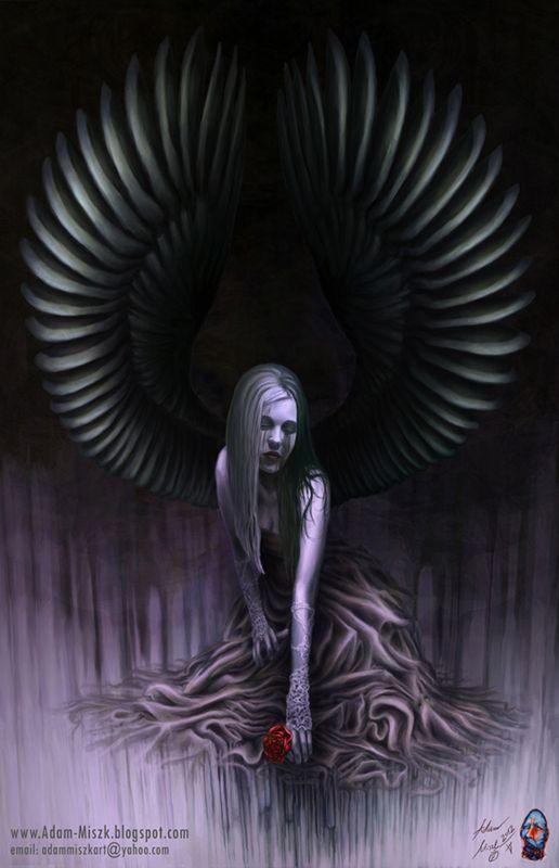 'Undertone of angel sorrow' by Adam Miszk   #visionaryart #art #digital #contemporaryart #dmt #illustration #fineart #scifi #digitalart #painting #horrorart #psychedelic