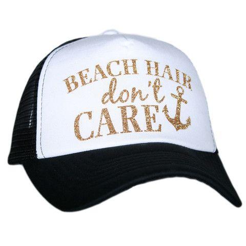 Katydid Beach Hair Don't Care Wholesale Glitter Trucker Hats