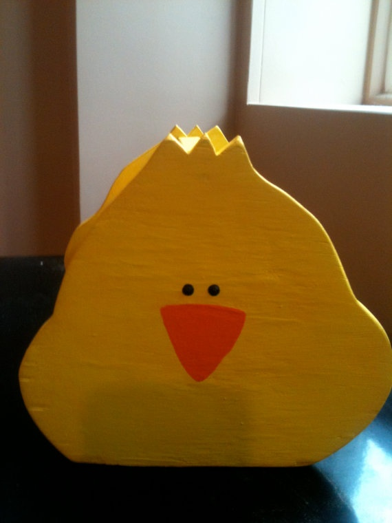 Easter wooden chick basket by FrenchyDeesigns on Etsy, $10.00