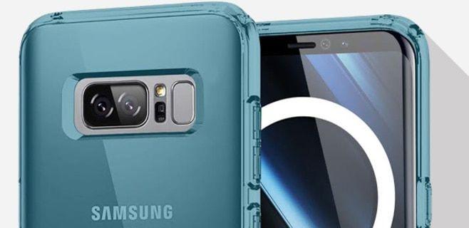 Galaxy Note 8 kılıfı parmak izi tarayıcısının arkada olacağını gösteriyor  https://www.teknoblog.com/galaxy-note-8-kilifi-parmak-izi-tarayici-150409/