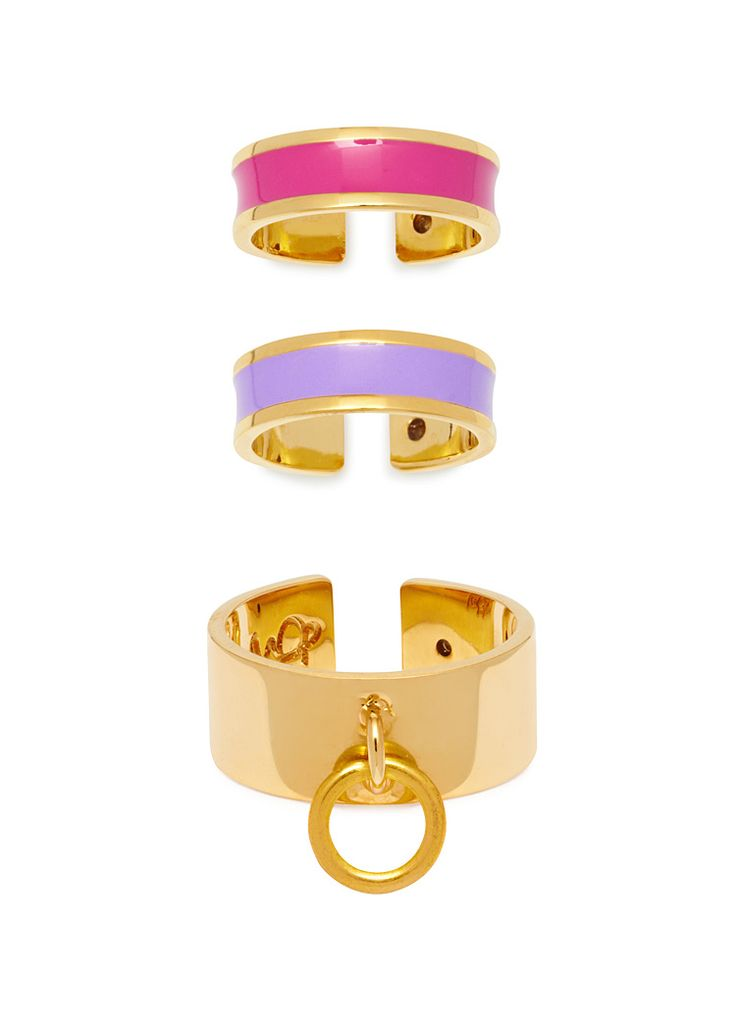 'BEVERLY HILLS DOLLS' SET OF 3 RINGS! Gold plated brass