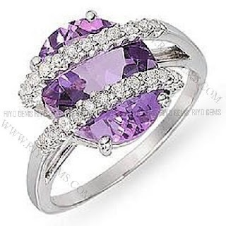 Purple Diamond Rings Click The Pinned Image For More Stunning Jewelry And Information