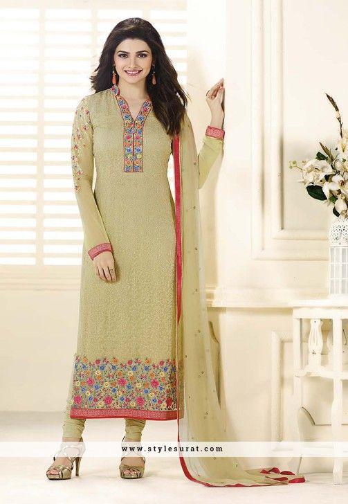Embroidery Work Prachi Desai Straight Long Salwar Suit