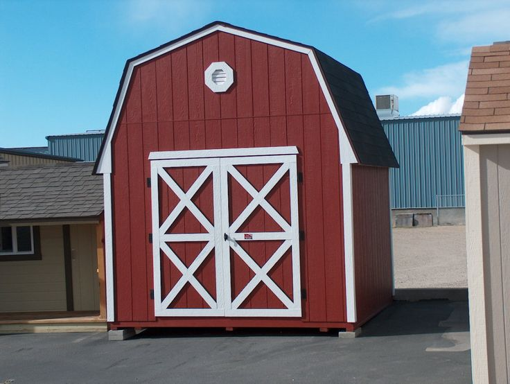 Tall Barn Style Storage Sheds built in Idaho and delivered to you. Abundant overhead storage. Great for mountain properties. Kits available.