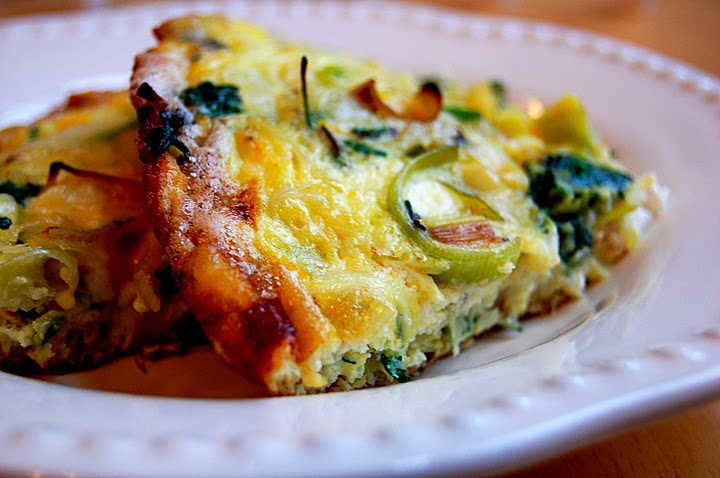Lemon Frittata With Leeks And Goat Cheese Recipe — Dishmaps