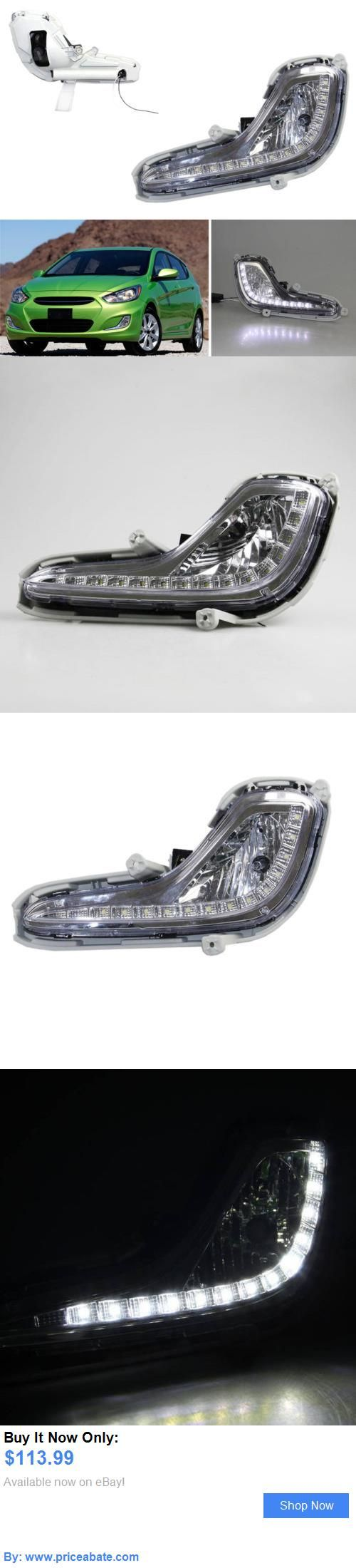 Motors Parts And Accessories: For Hyundai Accent 12-16 Auto White Led Lamp Beads Daytime Running Lights Drl 2* BUY IT NOW ONLY: $113.99 #priceabateMotorsPartsAndAccessories OR #priceabate