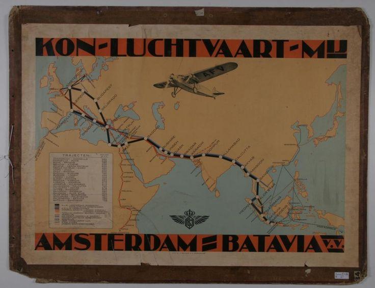 Koninklijke Luchtvaart Maatschappij - Amsterdam naar Batavia