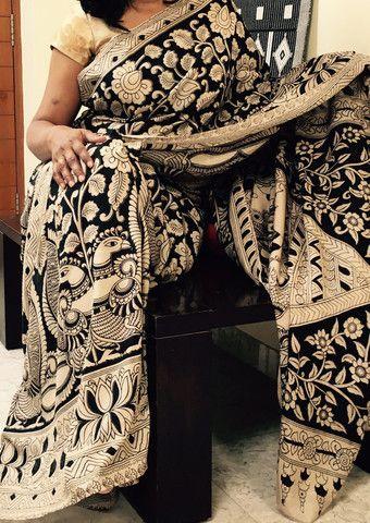 gorgeous Black and offwhite Kalamkari