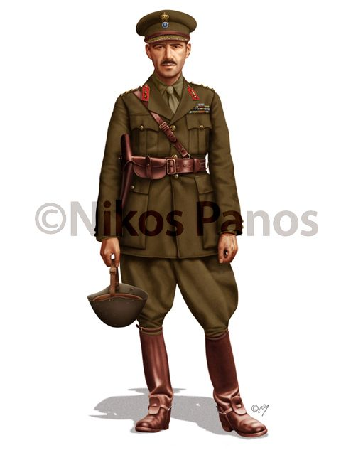 WWII Greek Army infantry officers' service uniform.