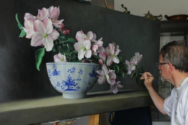 Pieter Wagemans Flower Oil Paintings