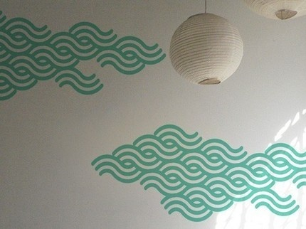 Japanese wave wall decals