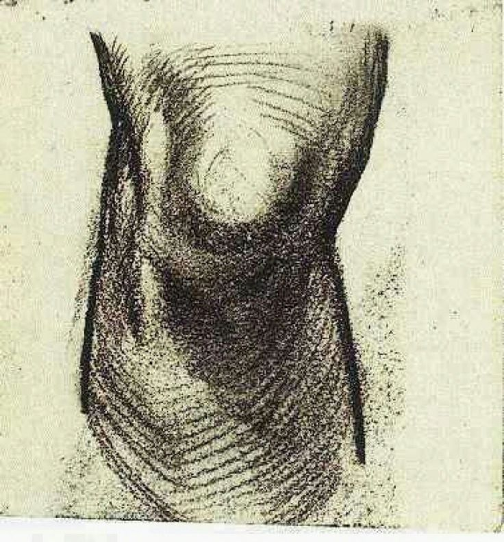Sketch of a KneebyVincent van Gogh   Medium: chalk on paper