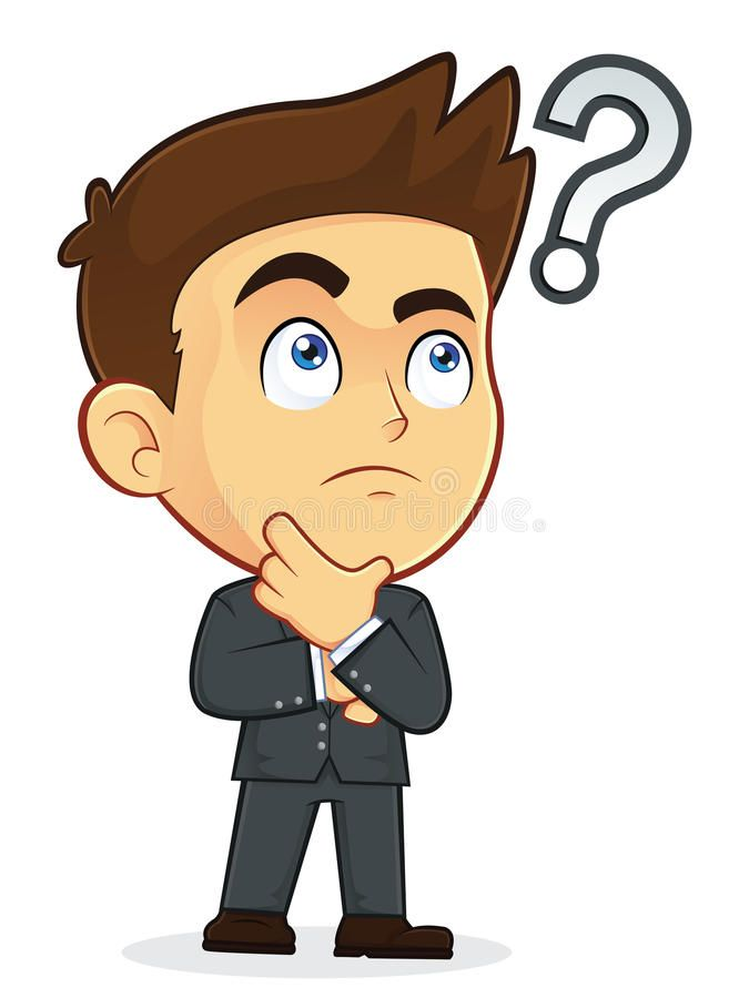 Businessman Touching Chin With Question Mark Clipart Picture Of A Male Business Affiliate This Or That Questions Cartoon Question Mark Question Mark Image